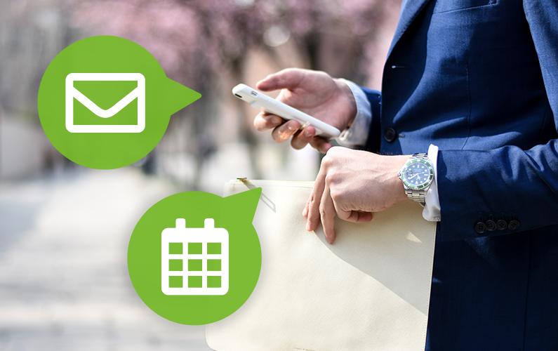 Persoonlijke e-mails en kalender beschikbaar in adviseursapp